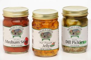 <b>Walnut Creek Foods Pickles, Jelly & Salsa Labels </b><br/>Custom Pickle labels, Jelly and Salsa Labels.